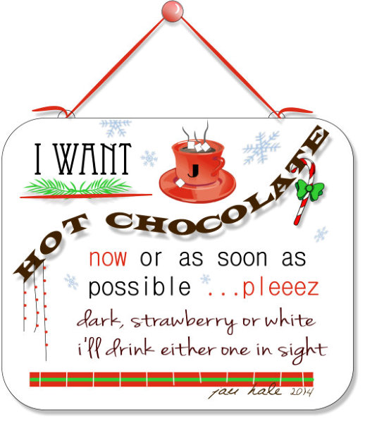Graphic-hot chocolate
